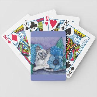 Baralho Para Poker Gato Siamese de ponto azul