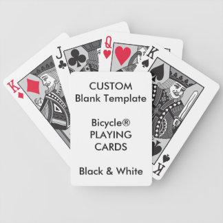 Baralho Para Poker Impressão feito sob encomenda cartões PRETOS &