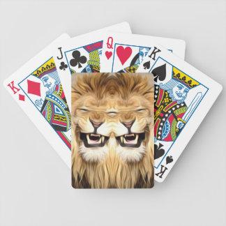 Baralho Para Poker Leão feliz Trippy