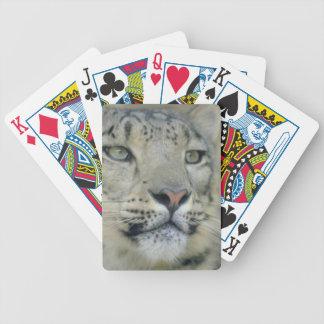 Baralho Para Poker leopardo de neve