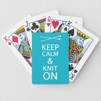Baralho Para Poker Mantenha a malha calma sobre • Artesanatos