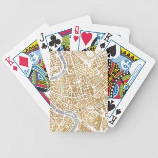 Baralho Para Poker Mapa dourado da cidade de Roma