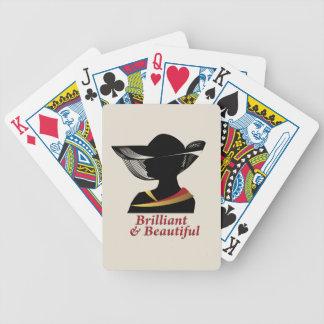 Baralho Para Poker Mulher brilhante e bonita