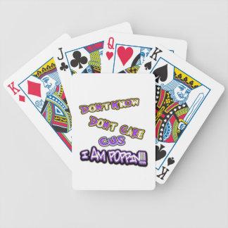 Baralho Para Poker não saiba não se importam me são poppin
