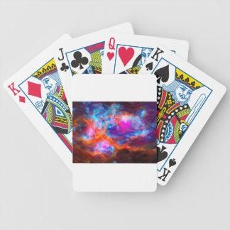 Baralho Para Poker Nebulosa galáctica abstrata com nuvem cósmica 7