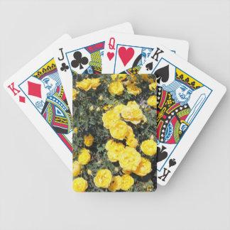 Baralho Para Poker O rosa amarelo ensolarado floresce o ônibus