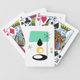 Baralho Para Poker ouro moderno do azul do design da lâmpada do meio