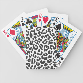 Baralho Para Poker Padrões pretos & brancos da pele animal do