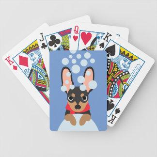Baralho Para Poker Pin do minuto do cão da neve