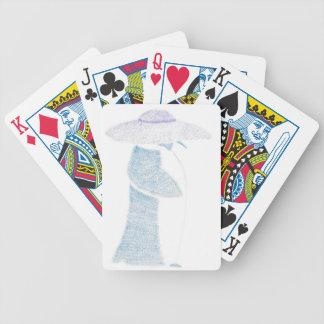 Baralho Para Poker Pinguim em um chapéu flexível