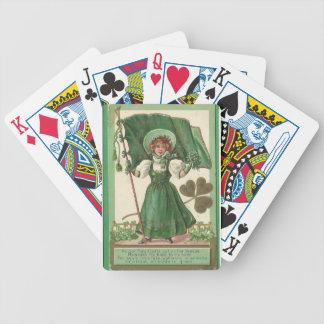 Baralho Para Poker Poster vintage original da senhora do dia de