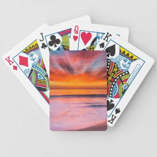 Baralho Para Poker Praia | Carlsbad de Tamarack do por do sol, CA