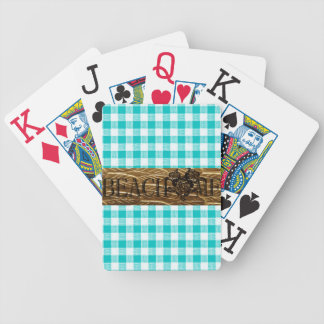 Baralho Para Poker PRAIA ME-Gold-Turquoise-Gingham_Fun-Beach
