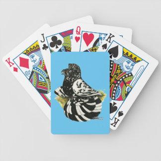 Baralho Para Poker Respingo escuro do pombo da trompetista