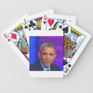 Baralho Para Poker Retrato abstrato do presidente Barack Obama 8 a.jp