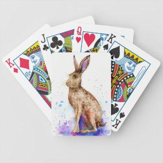 Baralho Para Poker Retrato da lebre da aguarela