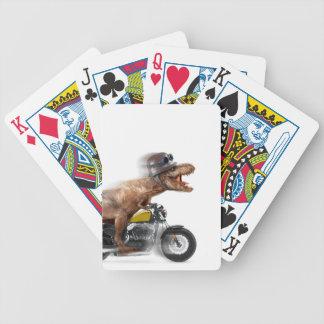Baralho Para Poker Rex dos motocicleta-tiranossauros-t do rex de T -