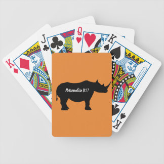 Baralho Para Poker Rinoceronte da silhueta