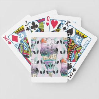 Baralho Para Poker sorvete com fundo alienigena