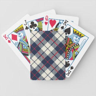 Baralho Para Poker Teste padrão da xadrez dos azuis marinhos