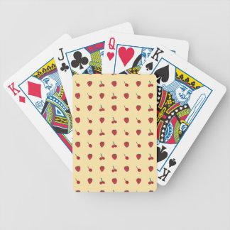 Baralho Para Poker Teste padrão das cerejas & das morangos
