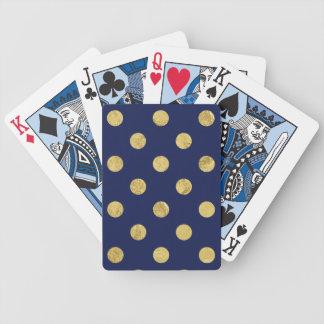 Baralho Para Poker Teste padrão de bolinhas elegante da folha de ouro