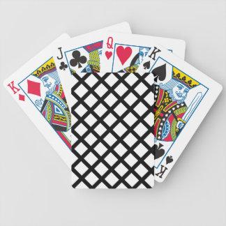 Baralho Para Poker Teste padrão simples preto e branco