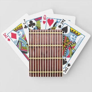 Baralho Para Poker textura de bambu da esteira