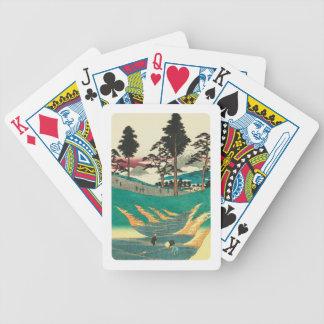 Baralho Para Poker Totsuka, Japão: Impressão de Woodblock do vintage