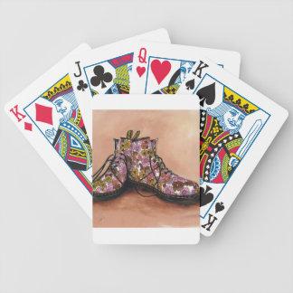 Baralho Para Poker Um par de botas floridos estimadas
