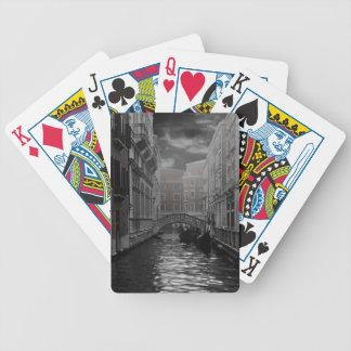 Baralho Para Poker Veneza em preto e branco