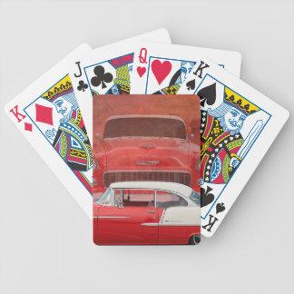 Baralho Para Poker Vintage branco vermelho de Dodge do Bel Air
