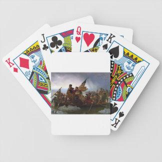 Baralho Para Poker Washington que cruza arte do vintage do Delaware -