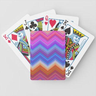 Baralho Para Poker ziguezague, colorido, engraçado