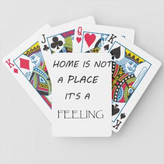 Baralho Para Pôquer a casa não é um lugar que é feeling2