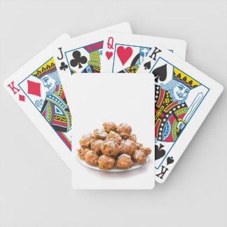 Baralho Para Pôquer A pilha do adoçado oliebollen ou fritou fritos