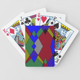 Baralho Para Pôquer Abstrato colorido retro do diamante