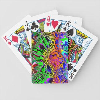 Baralho Para Pôquer Abstrato espectral das formas
