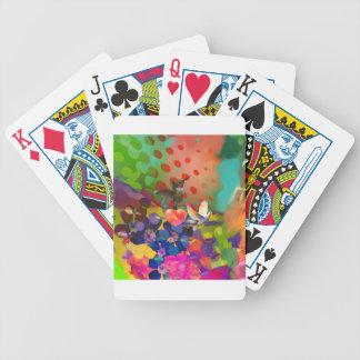 Baralho Para Pôquer Amor da natureza com fundo multicolorido