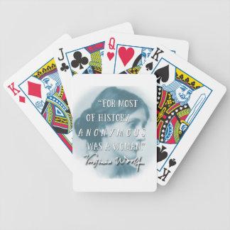 Baralho Para Pôquer Anónimo era um azul das citações de Virgínia Woolf
