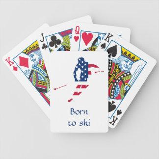 Baralho Para Pôquer Bandeira dos EUA do americano de esqui de América