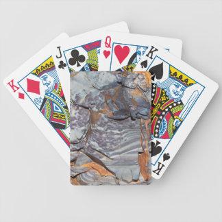 Baralho Para Pôquer Camadas naturais de ágata em um arenito
