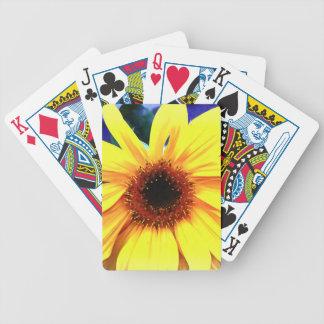 Baralho Para Pôquer Cartões de jogo da bicicleta do girassol