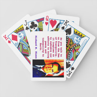 Baralho Para Pôquer Como você nos fala - Richard Nixon