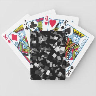 Baralho Para Pôquer Confetes preto e branco