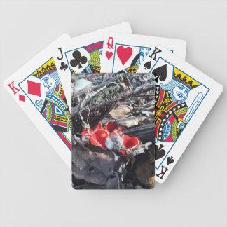 Baralho Para Pôquer Copos e folhas vermelhos