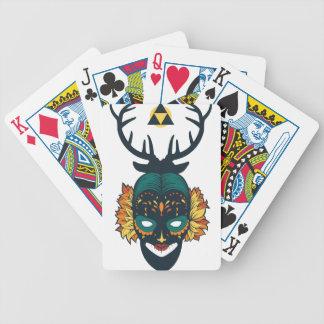 Baralho Para Pôquer crânio da menina com antin dos cervos
