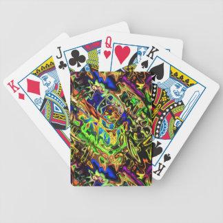 Baralho Para Pôquer Curvas coloridas caóticas