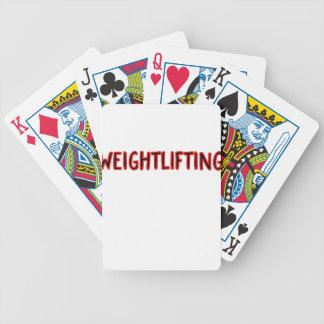 Baralho Para Pôquer Design do halterofilismo