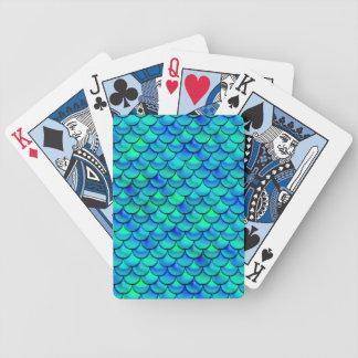 Baralho Para Pôquer Escalas do azul do Aqua de Falln